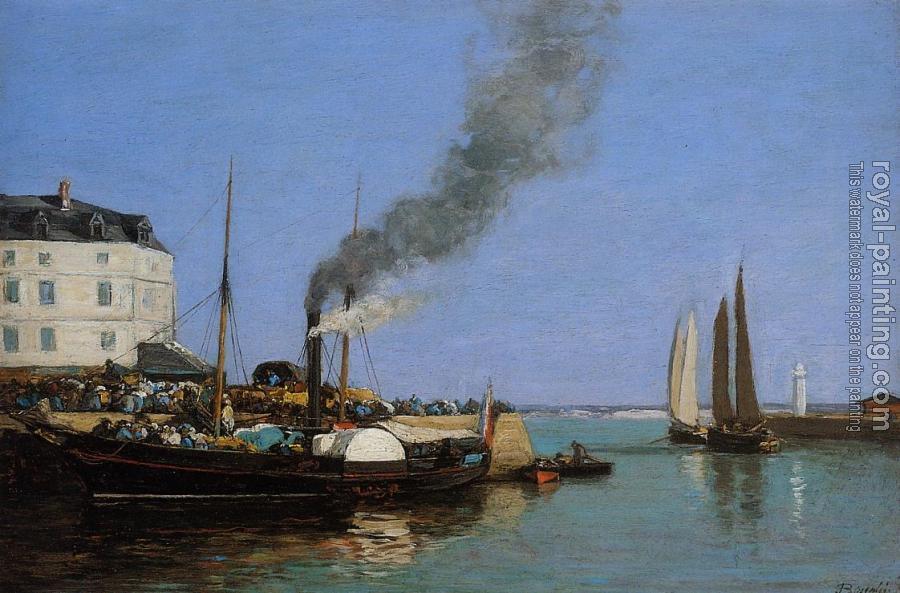 Eugene Boudin : Honfleur, the Jetty